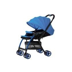 3 L SERIES ULTRA LIGHT CARRIAGE WITH REVERSABLE HANDLE & BASKET BLUE