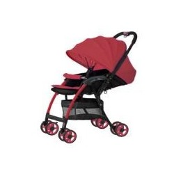3 L SERIES ULTRA LIGHT CARRIAGE WITH REVERSABLE HANDLE & BASKET RED