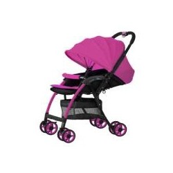 3 L SERIES ULTRA LIGHT CARRIAGE WITH REVERSABLE HANDLE & BASKET PINK