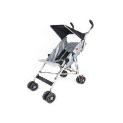 TWO POSITION UMBRELLA STROLLER W/ CANOPY (BLACK)