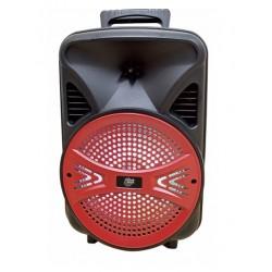 """8"""" PROFESSIONAL BLUE BLUETOOTH DJ SPEAKER W LED LIGHTS,SD CARD & FLASH DRIVE INPUT,FM RADIO W MICROPHONE"""